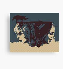 Buffy & Faith Canvas Print