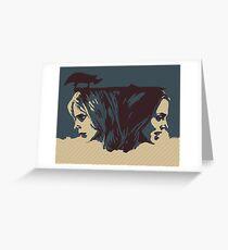 Buffy & Faith Greeting Card
