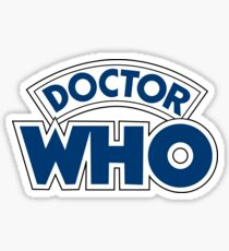 Classic Doctor Who Book Logo Sticker
