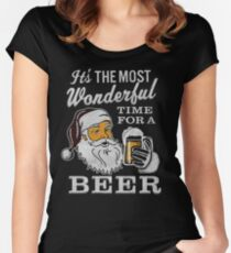 It's the Most Wonderful Time For a Beer Men's t-shirt - Beer Lovers Tee Women's Fitted Scoop T-Shirt