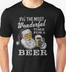 It's the Most Wonderful Time For a Beer Men's t-shirt - Beer Lovers Tee Unisex T-Shirt