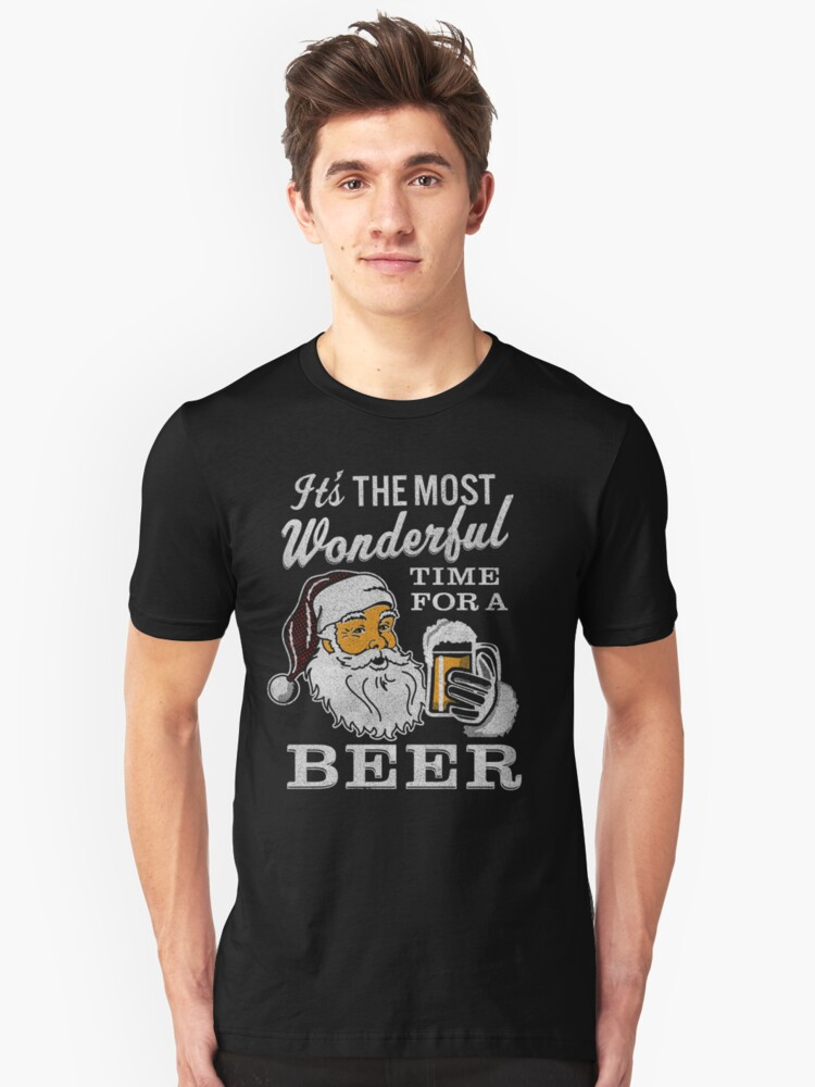 b2cbf96b7 It's the Most Wonderful Time For a Beer Men's t-shirt - Beer Lovers Tee