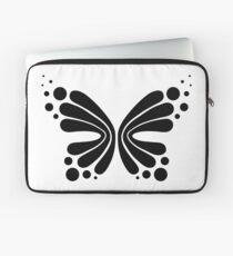 Graphic Butterfly B&W - Shee Vector Shape Laptop Sleeve