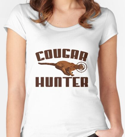Cougar t-shirt Women's Fitted Scoop T-Shirt