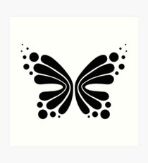 Graphic Butterfly B&W - Shee Vector Shape Art Print
