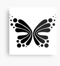 Graphic Butterfly B&W - Shee Vector Shape Metal Print