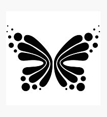 Graphic Butterfly B&W - Shee Vector Shape Photographic Print