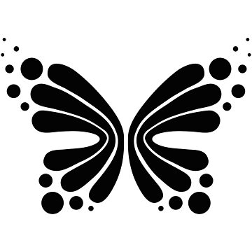 Graphic Butterfly B&W - Shee Vector Shape by SheeArtworks