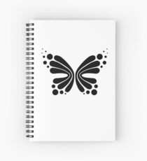 Graphic Butterfly B&W - Shee Vector Shape Spiral Notebook