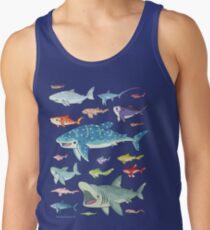 20 Shark Species Size Chart Tank Top