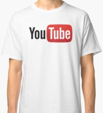 YouTube Full Logo - Red on White Classic T-Shirt