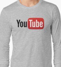 YouTube Full Logo - Red on White Long Sleeve T-Shirt