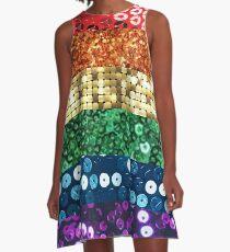 sequin pride flag A-Line Dress