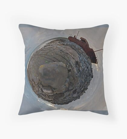 Shipwreck on Inisheer: The Plassey Wreck Floor Pillow