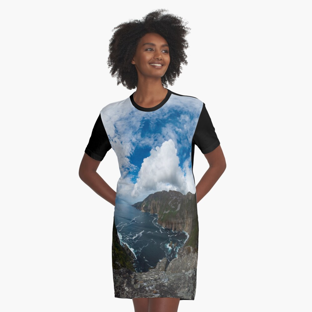 Bunglas - Highest Sea Cliffs in Europe? Graphic T-Shirt Dress Front