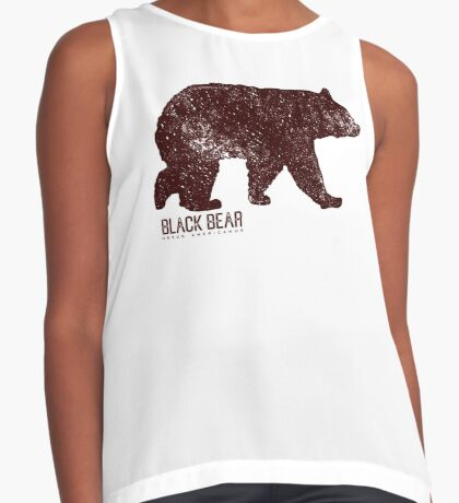 Black Bear Walking Contrast Tank