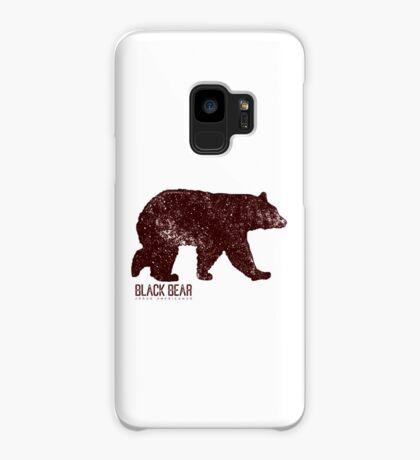 Black Bear Walking Case/Skin for Samsung Galaxy