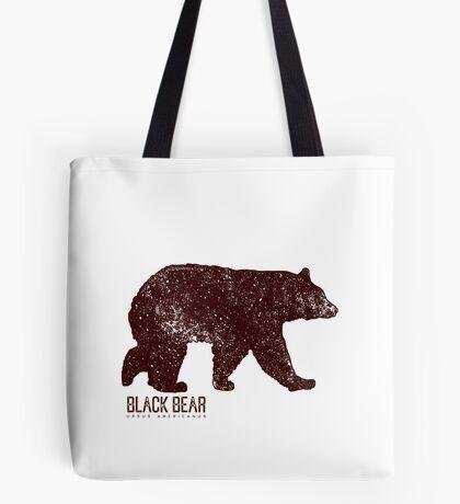Black Bear Walking Tote Bag