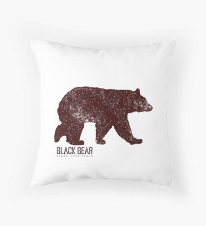 Black Bear Walking Throw Pillow