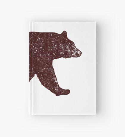 Black Bear Walking Hardcover Journal