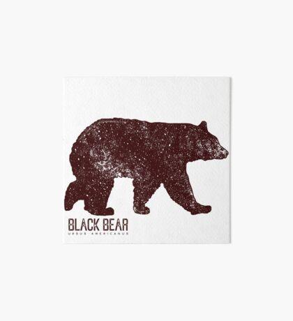 Black Bear Walking Art Board