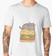 Burger cat Men's Premium T-Shirt