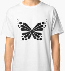 Graphic Butterfly B&W - Shee Vector Shape Classic T-Shirt