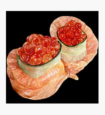 Fish Roe Sushi Photographic Print