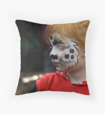 Sad little puppy Throw Pillow