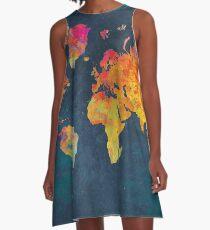 World Map  A-Line Dress
