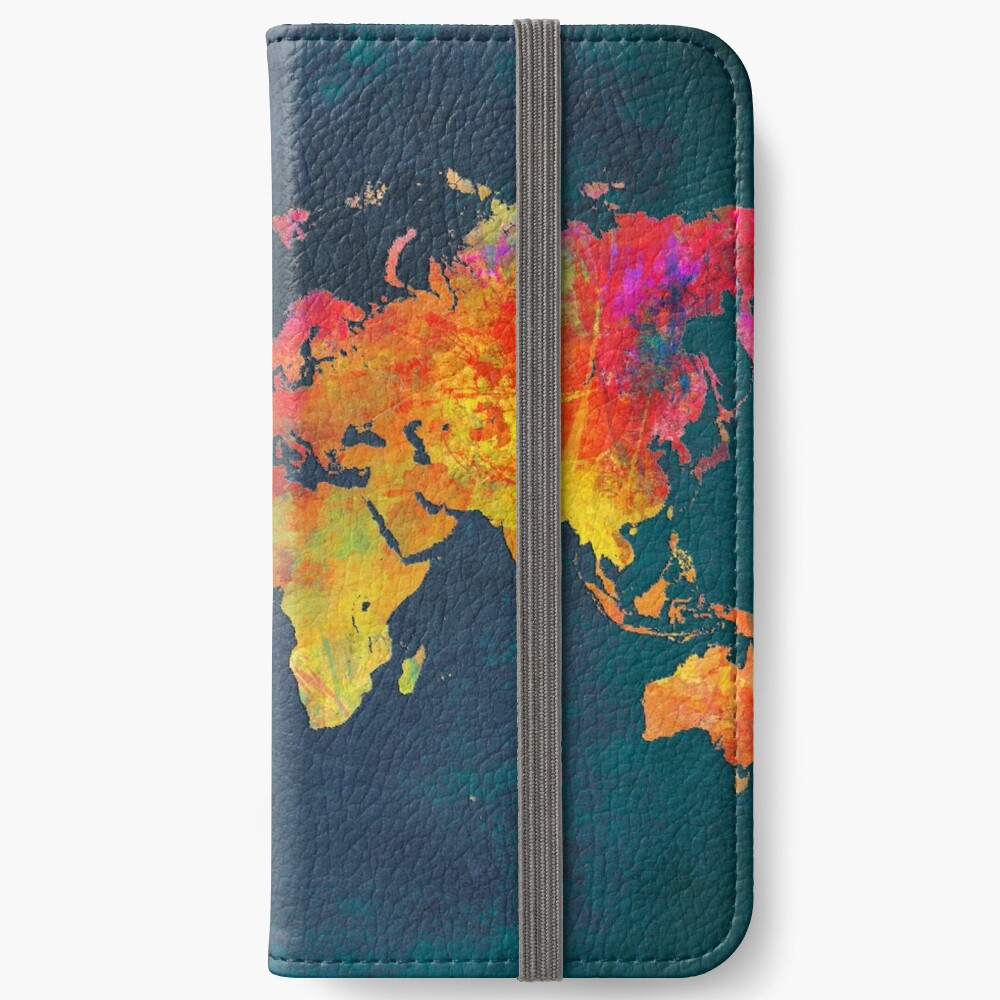 World Map  iPhone Wallet