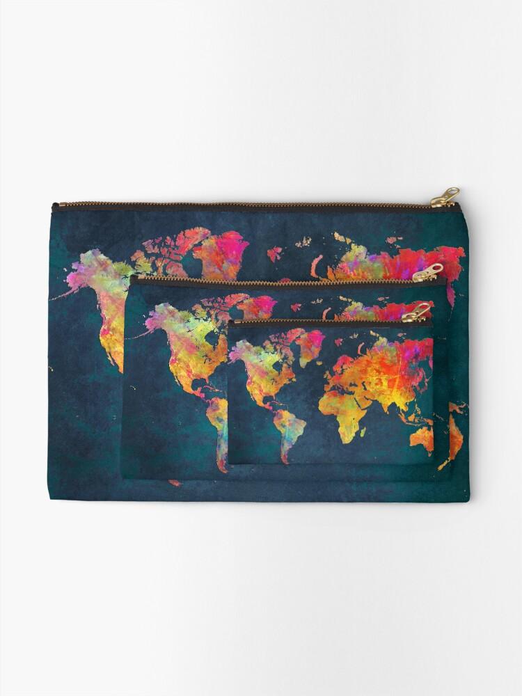 Alternate view of World Map  Zipper Pouch