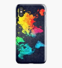 world map watercolor 6 iPhone Case/Skin