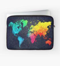 world map watercolor 6 Laptop Sleeve