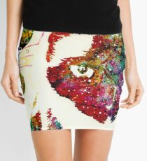 """I Can't Look At The Stars"" Siamese Cat Mini Skirt"