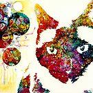 """""""Ich kann nicht auf die Sterne schauen"""" Siamesische Katze von ElisetteArt"""