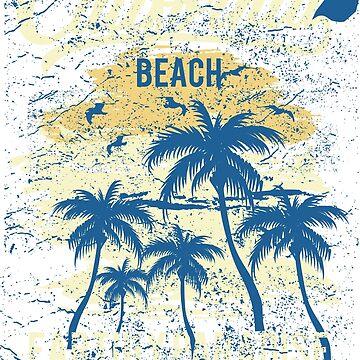 California Beach T-Shirt by webeller
