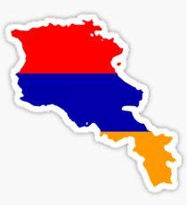 Flag Map of Armenia Sticker