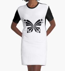 Graphic Butterfly B&W - Shee Vector Shape Graphic T-Shirt Dress
