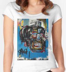 Basquiat Skull Women's Fitted Scoop T-Shirt