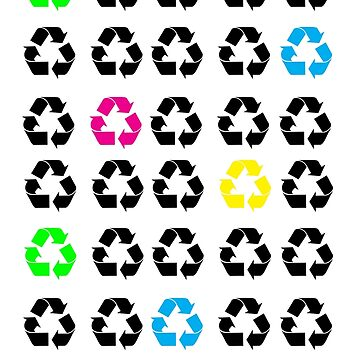 Neon Recycle Symbols by ValeriesGallery