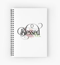 Cuaderno de espiral Bendito - linda cita cristiana inspiradora femenina
