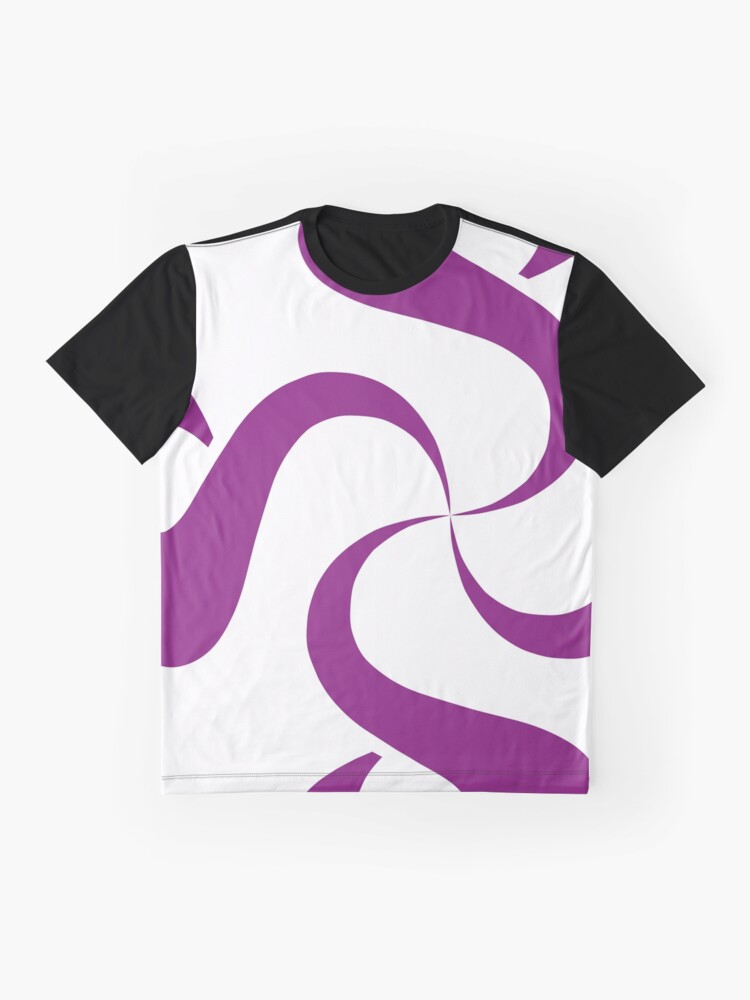 Alternate view of SheeArtworks Spiral Purple - Shee Vector Shape Graphic T-Shirt