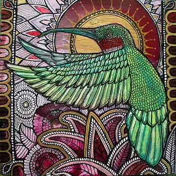 Flight of the Hummingbird by LynnetteShelley