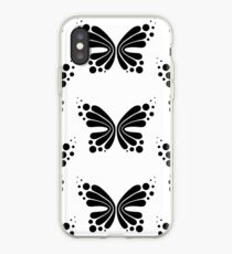 Graphic Butterfly B&W - Shee Vector Pattern iPhone Case