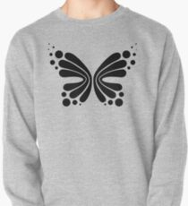 Graphic Butterfly B&W - Shee Vector Pattern Pullover