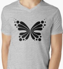 Graphic Butterfly B&W - Shee Vector Pattern Men's V-Neck T-Shirt