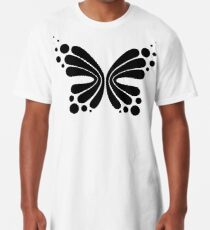 Graphic Butterfly B&W - Shee Vector Pattern Long T-Shirt