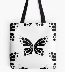 Graphic Butterfly B&W - Shee Vector Pattern Tote Bag