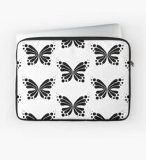 Graphic Butterfly B&W - Shee Vector Pattern Laptop Sleeve